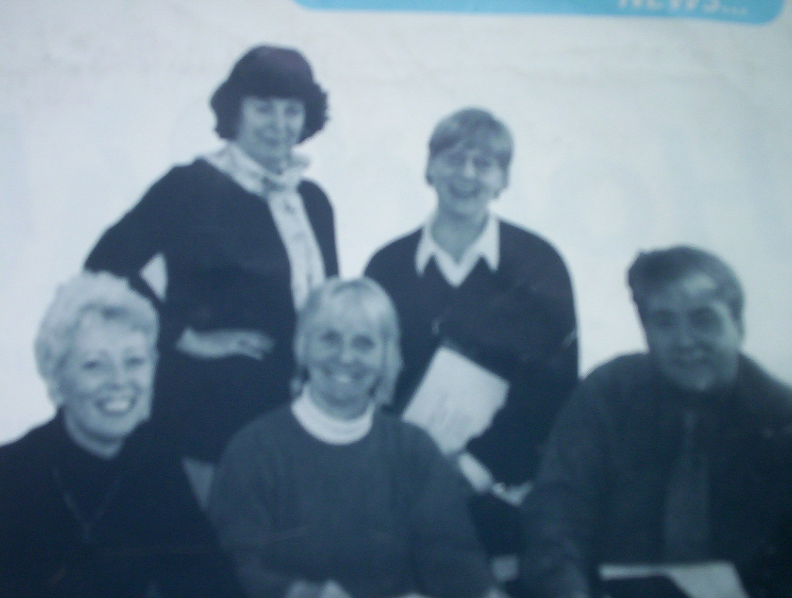 A photo taken in the mid nineties of some of the people involved in developing the course